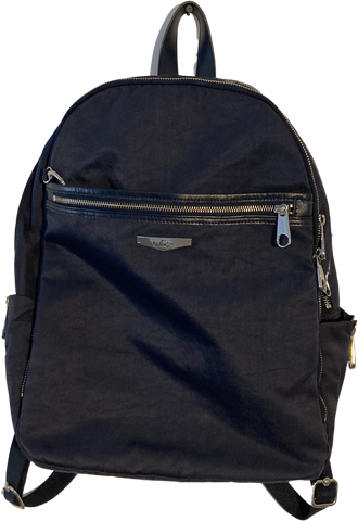 Blue Grey Leather/synthetic Mix Vintage Backpack