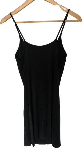 Black Cotton / Rayon Mix Other Stories Slip Dress