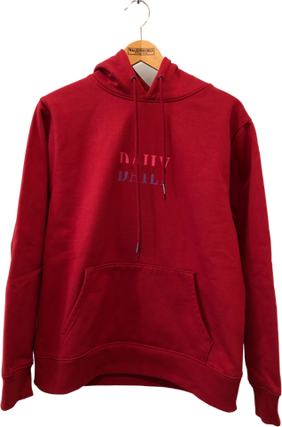 Red Cotton / Poly Mix Daily Paper Hoodie