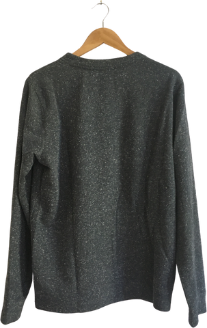 Dark Grey-White Cotton / Poly Mix A.p.c. ( Mens ) Light Sweater  Size S/M