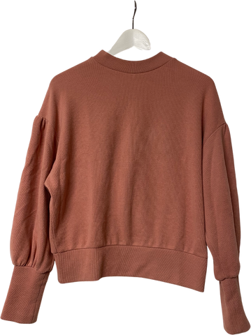 Terracotta Acrylic Mix Vintage Sweater Trumpet Sleeve Size S/M