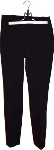 Black Polyester Modern COS Trousers Slim Fit