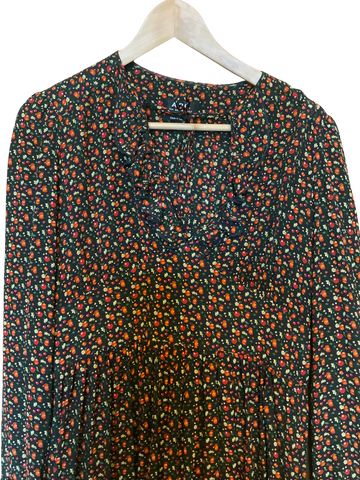 Colorful Silk A.p.c. ( Womens ) Smock Dress Collar Detail Sleeve Detail