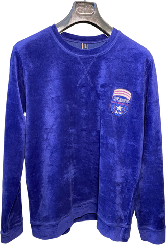 Blue-Mauve Cotton / Poly Mix Gaultier Jean's Sweatshirt