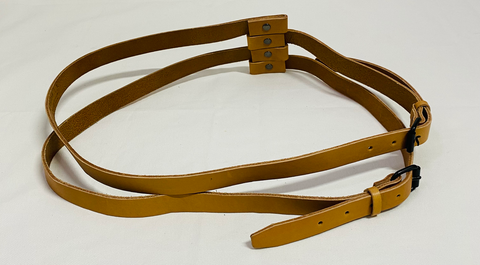 Tan Leather / Metal Mix A.F. VANDEVORST Belt Adjustable Feature