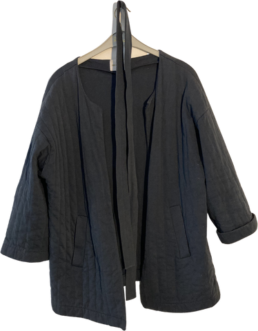 Navy Cotton Kauf Dich Glucklich Light Jacket Kimono Style