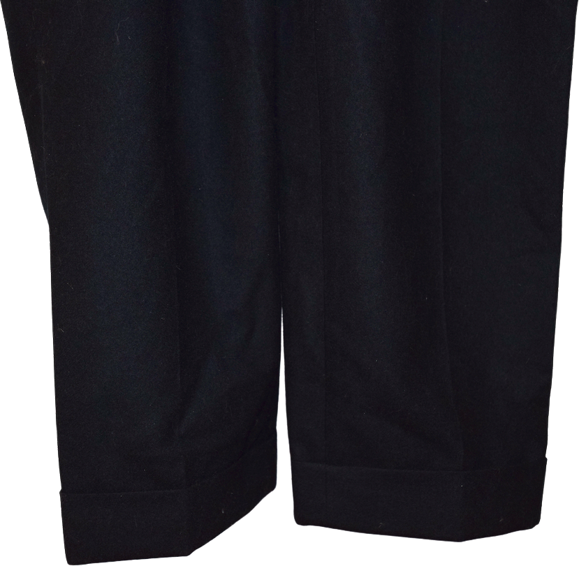 Black Wool COS Trousers  Size 25/26
