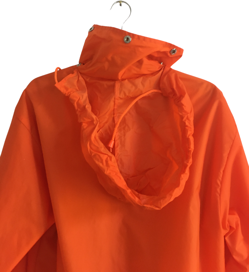 Orange Nylon Vintage Windbreaker Draw String Size S/M