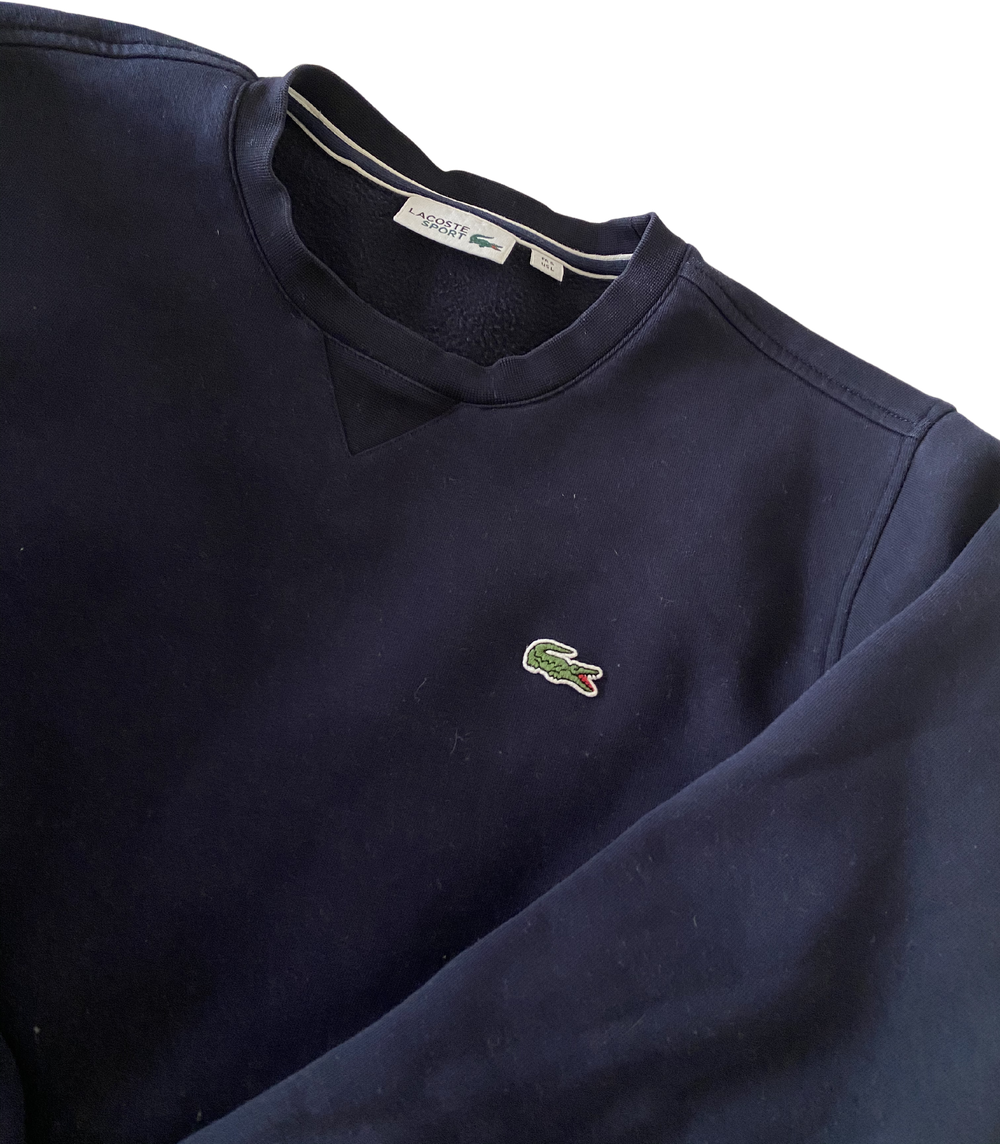 Midnight Blue Cotton Lacoste Sweater  Size L/XL