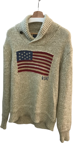 Beige Cotton / Silk Mix Polo Ralph Lauren Sweater