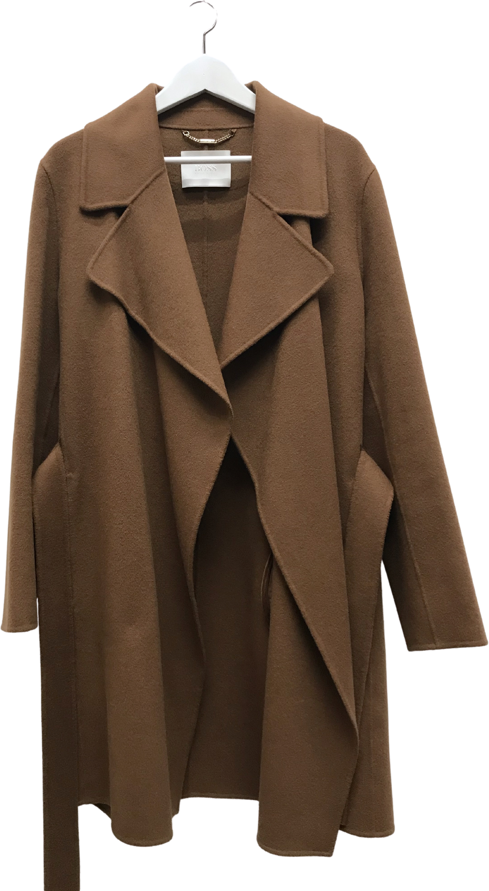 Tan Cashmere Mix Hugo Boss Coat  Size L/XL