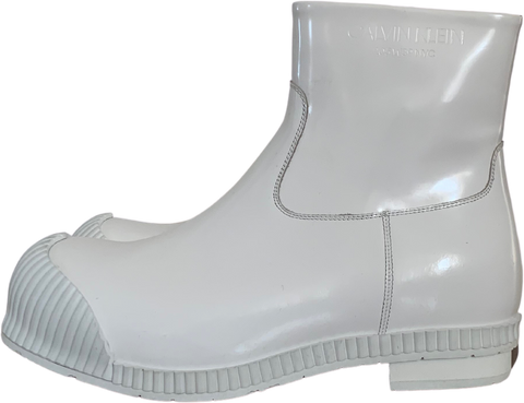 White Synthetic Calvin Klein 205w39nyc Ankle Boots Conceptual Detail Size 43