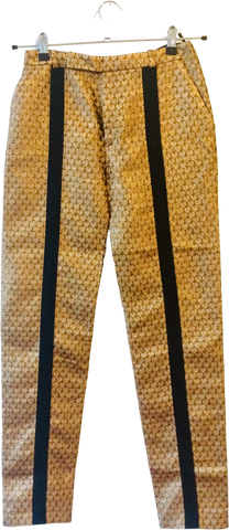 Gold-Black Acrylic Mix Kenzo Straight Fit Pants Metail Iridescent