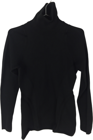 Black Wool Mix Y-3 Top long sleeve Turtle Neck
