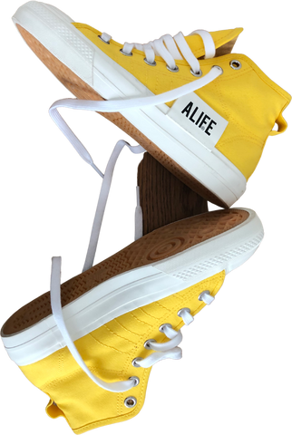 Yellow Canvas Adidas High-tops