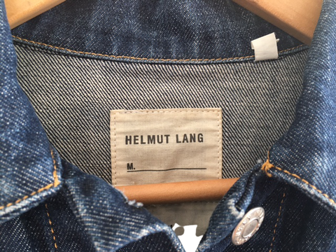 Blue Denim Helmut Lang Jeans Jacket Boxy