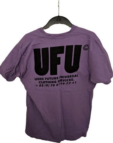 Purple Cotton Used Future UFU T-shirt Oversized Size M/L