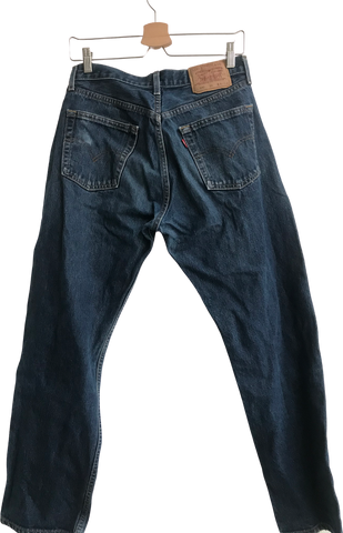 Denim Blue Denim Levi's Straight Fit Jeans