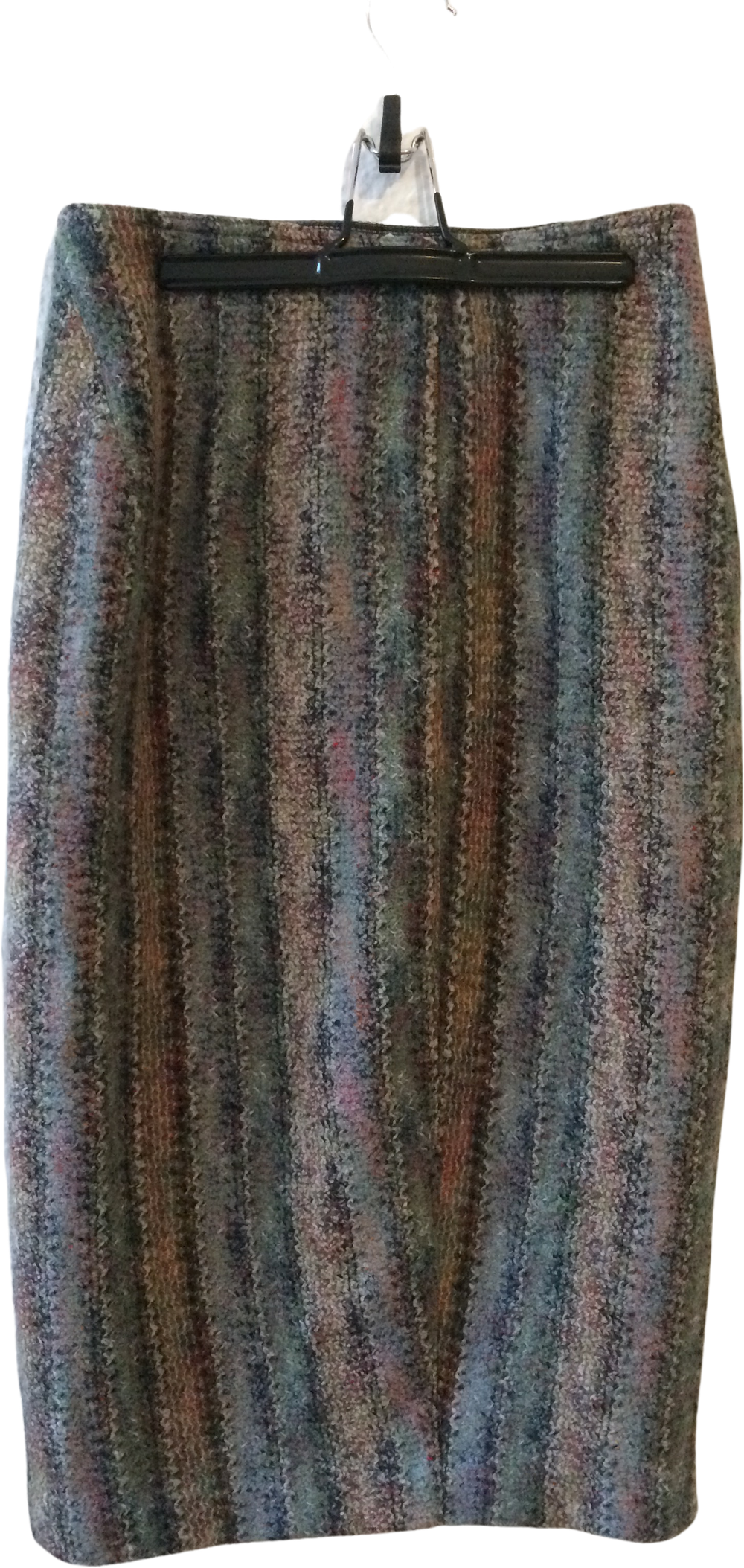 Colorful Wool Mix Missoni Knit Skirt Fuzzy