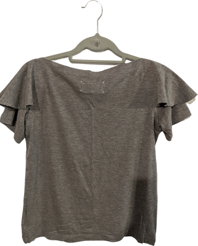 Grey Cotton / Rayon Mix Maison Martin Margiela T-shirt Raw Hem