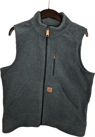 Cloudy Sea Vintage Polyester Carhartt Usa Vest Boxy