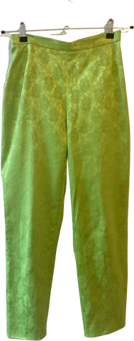 Pea Soup Green Polyester Mix Kenzo High Waist Pants