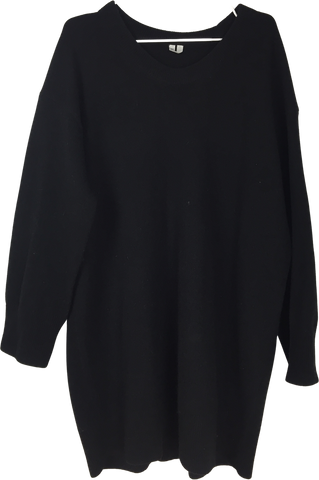 Black Wool Arket Sweater Dress Loose-fit