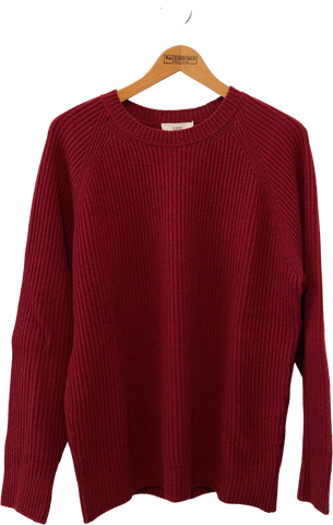 Red Wool Closed Sweater