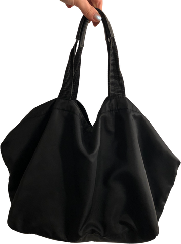 Black Nylon Vintage Hand Bag