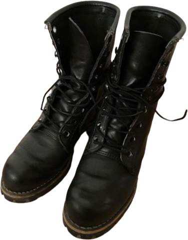 Black Leather Vintage Boots