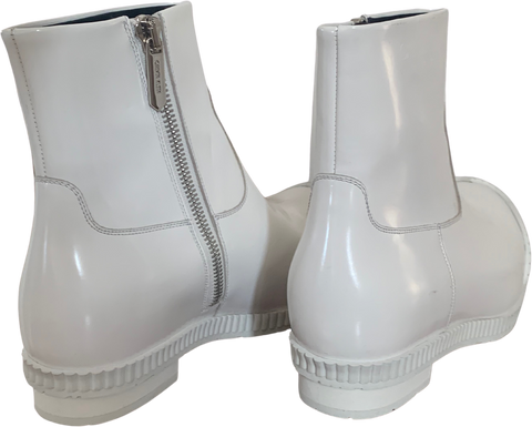 White Synthetic Calvin Klein 205w39nyc Ankle Boots Conceptual Detail