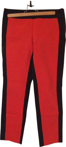 Deep Red-Black Cotton COS 3/4 Pants Conceptual Detail Size 25/26