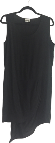 Black Rayon Oak Nyc Tank Dress Asymetric