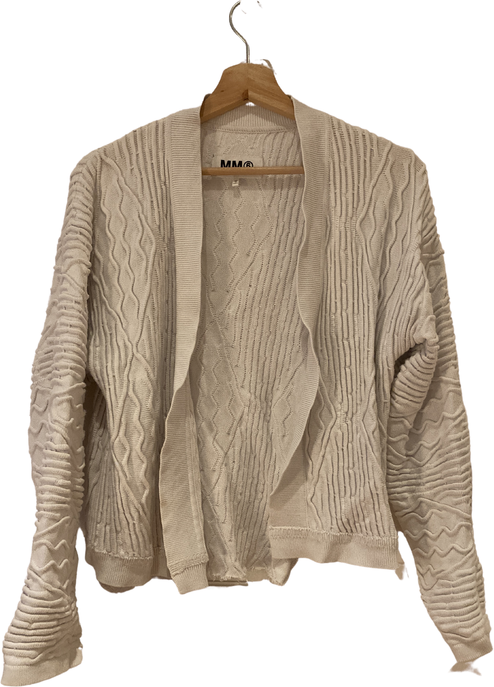 White Cotton Mm6 Maison Margiela Cardigan