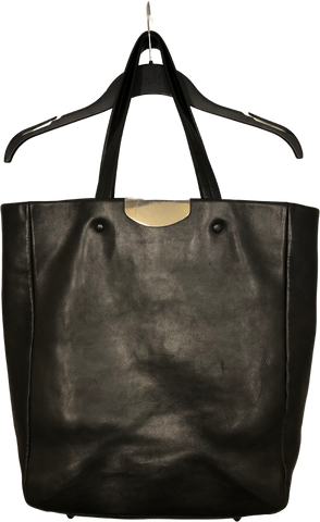 Black Leather Maison Martin Margiela Shoulder Bag