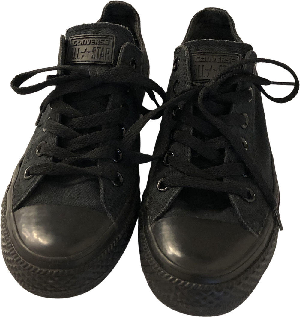 Black Canvas Converse Sneakers