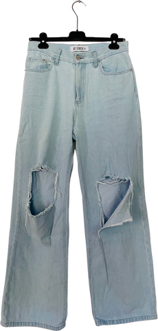 Pale Denim Blue Denim Vintage Jeans Wide Leg Size 28/29