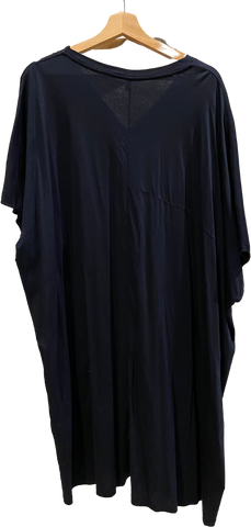 Navy Cotton COS Midi Dress V-neck Size M/L