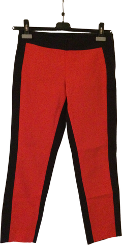 Deep Red-Black Cotton COS 3/4 Pants Conceptual Detail