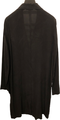 Black Silk COS Shirt Dress Elongated Size M/L