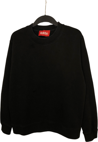 Black Cotton / Poly Mix 032c Sweatshirt