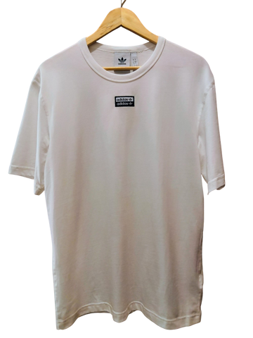 White Cotton Adidas T-shirt Boxy