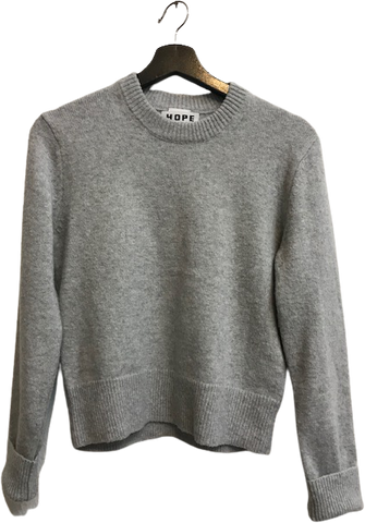 Grey Acrylic Mix Hope Sweater Boxy