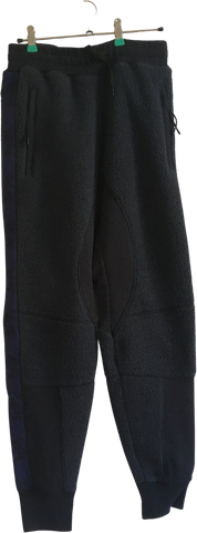 Black-Midnight Blue Cotton / Poly Mix Coach Jogging Pants Conceptual Detail Size 32