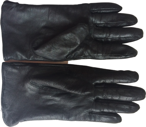 Black Leather Vintage Gloves