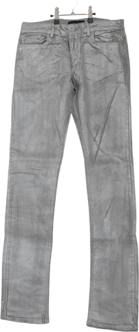 Silver Cotton Zadig & Voltaire Straight Fit Jeans Metallic