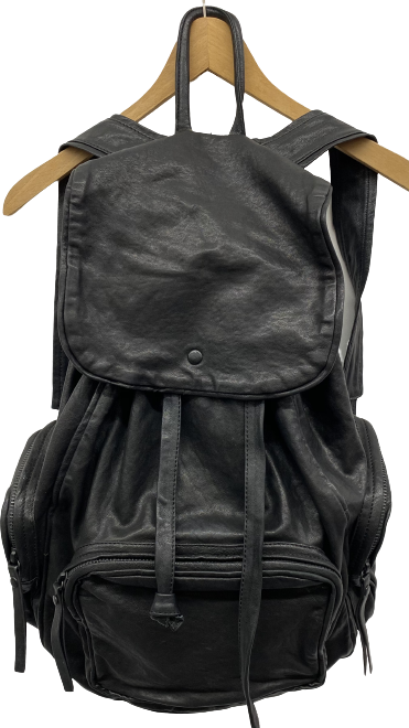 Black Leather / Metal Mix Yvonne Koné Backpack Multi Pocket