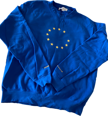 Royal Blue-Dandelion Cotton Souvenir Official Sweater  Size L/XL