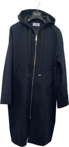 Navy Cotton Mix Libertine-libertine Light Coat Hoody