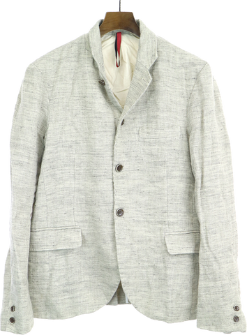 Light Gray Linen Yantor Japan Blazer-jacket